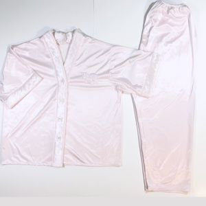 Satin Pink Pyjama Set